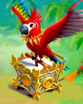 Coin Master card Merry Macaw