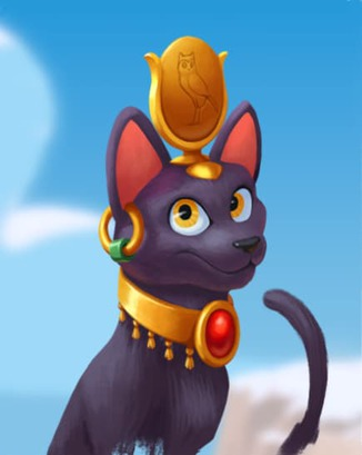 Coin Master card Egyptian Cat