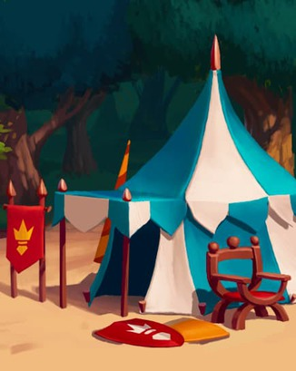 Coin Master card Camelot Tent