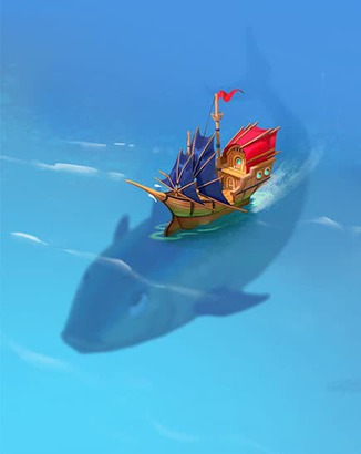 Coin Master card Whale Boat